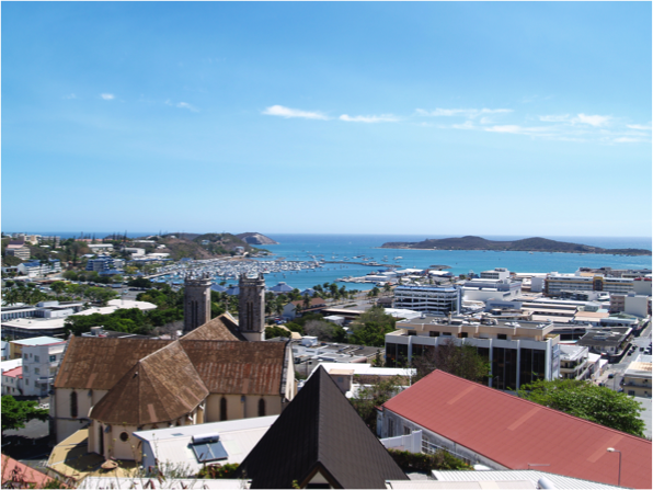 Noumea is situated on a peninsula in on the island of Grande Terre