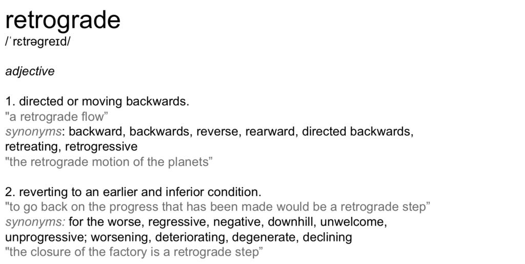 retrograde-dictionary