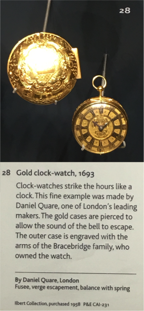 Gold Clock Watch by Daniel Quare (Credit: British Museum)